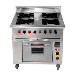 Four Burner Gas Range with Oven
