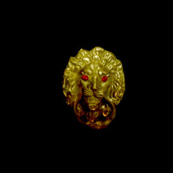 small lion door knocker