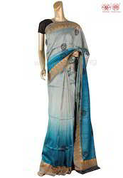 Blended Color Tussar Saree