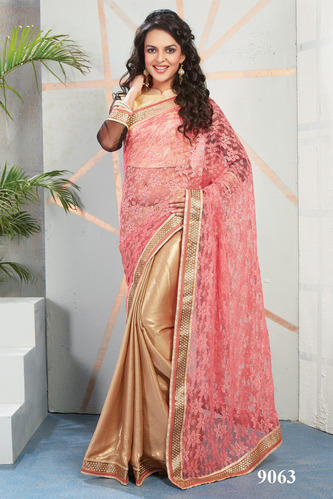 Embroidery Designer Shimmer Saree