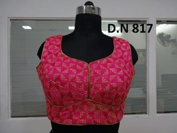 Pink Silk Stitched Blouse