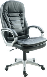 Brown & Black Leather Executive Chair