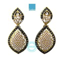 Traditional Pearl Antique Earrings