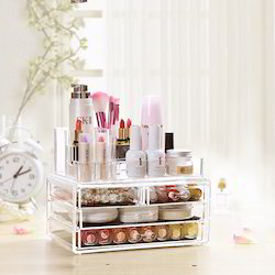 Kawachi Acrylic Makeup Organizer Storage Box For Cosmetic Je