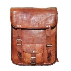 Junkyard Leather Messenger Bag- Hunter