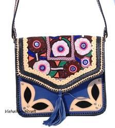 Vintage Hand Embroidery Leather Bag