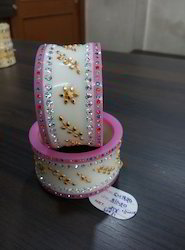 Plastic Bangles with Gold Plated