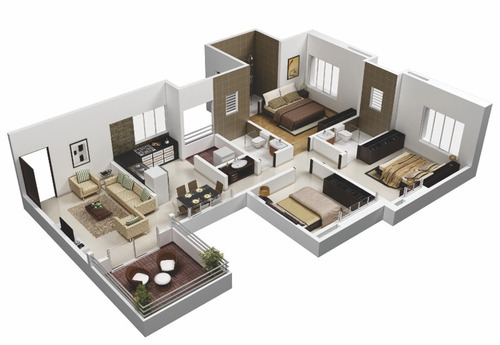 3D Floor Plan Design Isometric View