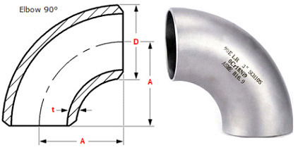 Buttweld Fittings 90 Long Radius Elbow Manufacturer From