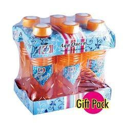 Aqua Queen 6pc Set Pet Bottles
