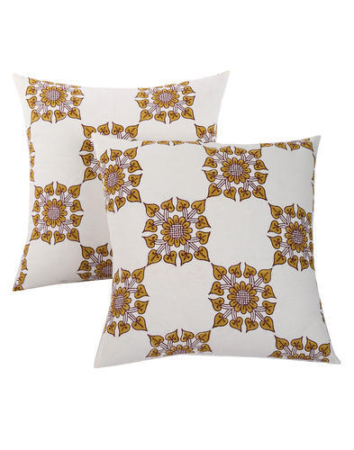 Hand Block Floral Printed Cotton Cushion Cover