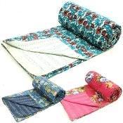 New Kantha Quilts Throw Gudari Ralli Blankets Gd4