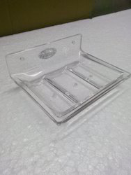 bathroom accessories acrylic corner tray manufacturer from new delhi
