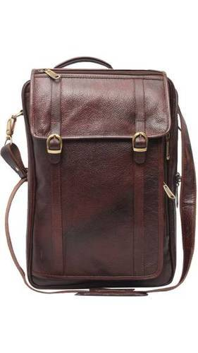 Leather Laptop Bag - Business Men Genuine Leather Brown Backpack Cum ... 9a0e8e5f70bd0