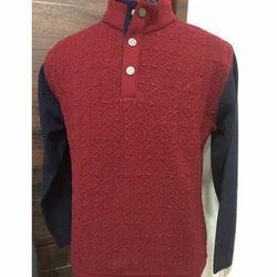 Neck Sweatshirt With Button