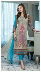 Printed Georgette Salwar Suit