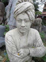 Vivekananda Model in Black Stone or Marble