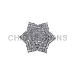 Pave Diamond Floral Rings