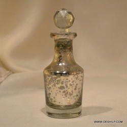 silver perfume bottle