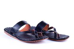 Leather Slippers - Black