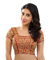 Designer Blouse Stitched Embroidered Stone Work Party Wear