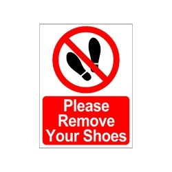 clickforsign please remove your shoes sign sticker sign35