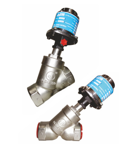 Pneumatic Angle Type Control Valve