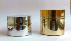 Premium Glass Cream Jars Metalized - Exclusive