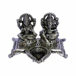 Silver Laxmi Ganesh Idols