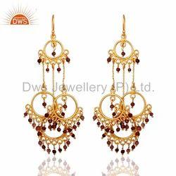 Designer 925 Silver Tourmaline Earrings