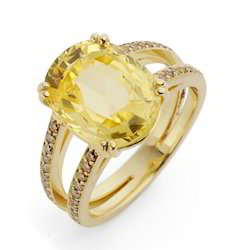 Super Deluxe AAA Yellow Sapphire Ring