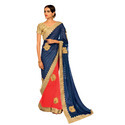 Chiffon Half and Half Saree