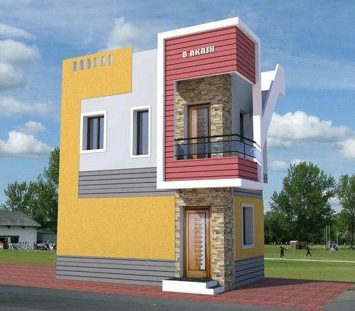 3d front elevation - 3d Design Building