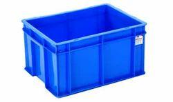 Square Plastic Blue Crates