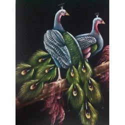 Painting of Two Peacock