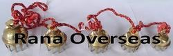 Brass Bell Set with Rope