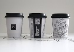 custom disposable printed cups corporate usage paper cups