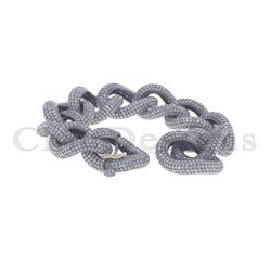 Diamond Pave Link Chain Bracelet