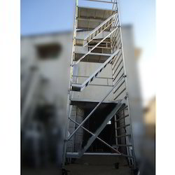 Double Width Scaffold Without Stairway