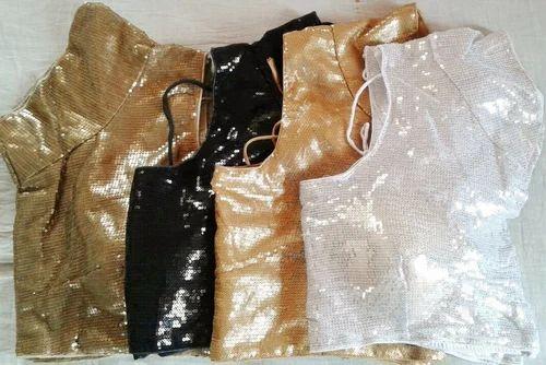 Sequins Designer Readymade Blouse Sequins Party Blouses Wholesale
