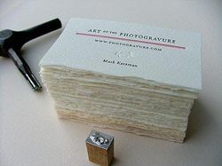 Deckle Edged Handmade Paper Visiting Cards