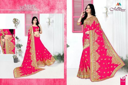 Wedding Saree in Hand Work