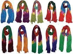 Silk Bandhej Stole