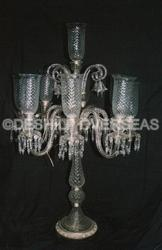 Crystal Pedestal Lamp