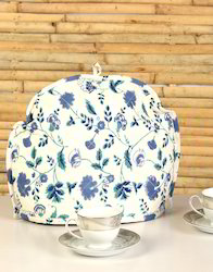 Blue And White Cotton Heat Resistant Printed Tea Cozy