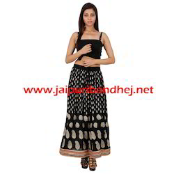 Gold Print Skirts