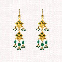 Emerald Stone Earring