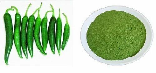 how to make green chili powder