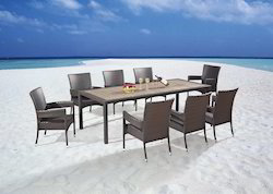 Outdoor Wicker Dining Set