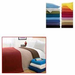 Plain Fleece Blanket for Home